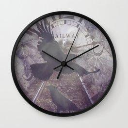Crow Railroad Tracks Clock Fantasy Endless Rail, She Said A738 Wall Clock
