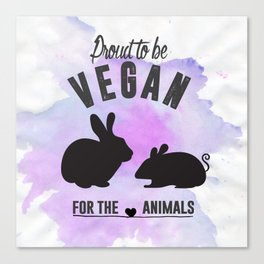 Proud to be Vegan Canvas Print