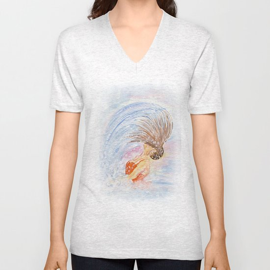 Swimmer - Hair Splash Unisex V-Neck