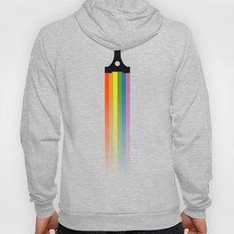 Westward Silhouette with Rainbow Trail Hoody