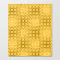 yellow pattern Canvas Prints featuring yellow pattern by Artemio Studio