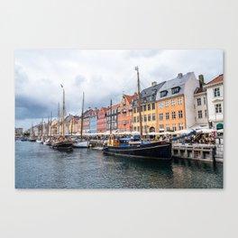 Nyhavn waterfront in Copenhagen Canvas Print