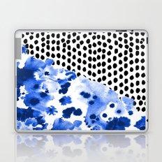Monroe - India ink, indigo, dots, spots, print pattern, surface design Laptop & iPad Skin