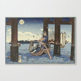 Tsukuda Island, Utagawa Kuniyoshi, 1831 - 1835 Canvas Print