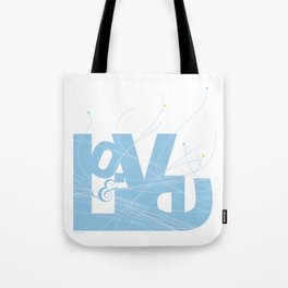 Love & Live (lines1) Tote Bag