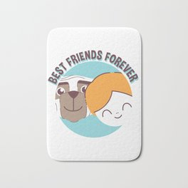 Best Friends Forever Kid and Dog Bath Mat