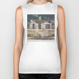 cycling across France on this pretty white bicycle Biker Tank