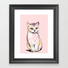 Josephine The Cat Framed Art Print