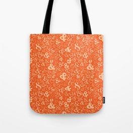 Ampersands - Orange Tote Bag