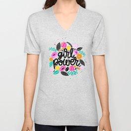 Girl Power Gang T-shirt, Local Girl Gang Unisex V-Neck