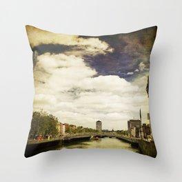 Dublin City Throw Pillow