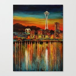 Seattle from Alki Canvas Print
