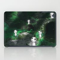 kodama iPad Cases featuring Forest Spirits (Kodama) by pkarnold + The Cult Print Shop