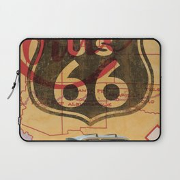 Route 66 Vintage Travel Poster Laptop Sleeve