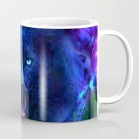panther Mugs featuring Panther by Michael White