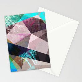 P16-C TREES AND TRIANGLES Stationery Cards