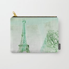 Paris Eiffel Tower in the winter Carry-All Pouch