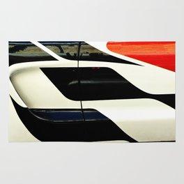 Car Door Geometric Abstract Rug