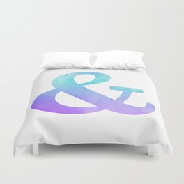 Watercolor Ombre Purple and Blue Ampersand Duvet Cover