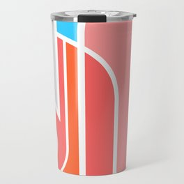 Cubist Flamingo Travel Mug