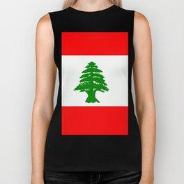 Flag of Lebanon Biker Tank