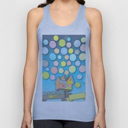 """Guest Book Sign In """"Adventure Awaits"""" Customize your name Unisex Tank Top"""