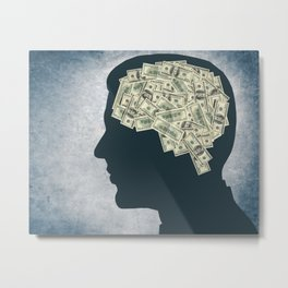 money brain Metal Print