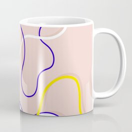 Connecting Organic Lines on Blush Coffee Mug