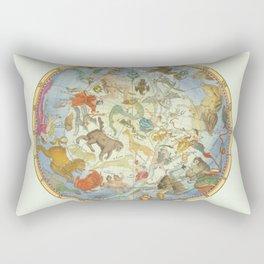 Vintage Print - J Flamsteed - Atlas Celeste (1776) - Northern Celestial Hemisphere Rectangular Pillow