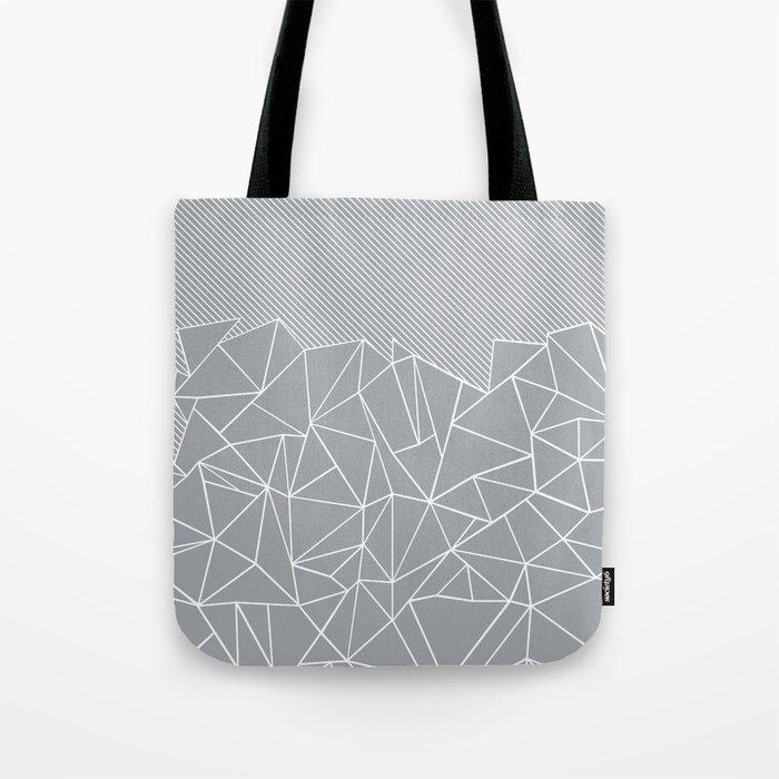 Ab Linear Grey Tote Bag