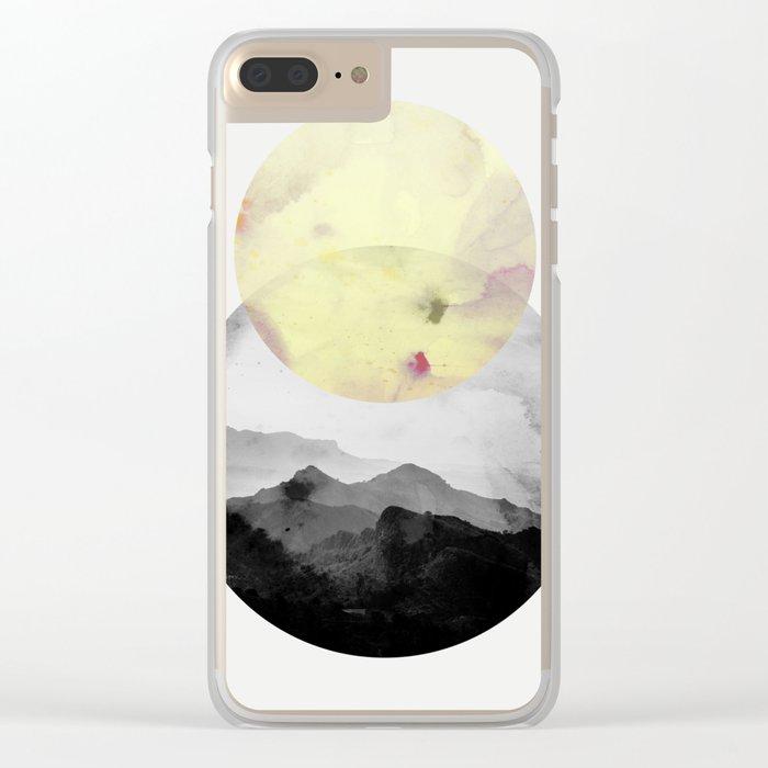landscape montain nature Clear iPhone Case