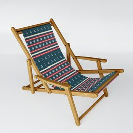 Ships Ahoy Blue/Red Stripe Sling Chair