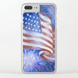I Pledge Allegiance to the Flag Clear iPhone Case
