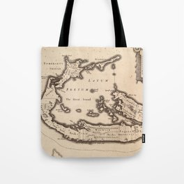 Vintage Map of Bermuda (1626) Tote Bag