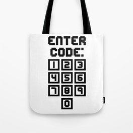Enter Code (Keypad) Tote Bag