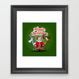 Magic Christmas with a unicorn Framed Art Print