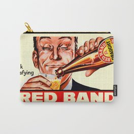 Vintage poster - Red Band Beer Carry-All Pouch