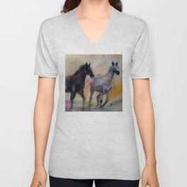Wild Horses Unisex V-Neck