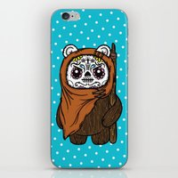 ewok iPhone & iPod Skins featuring Sugar Skull Ewok by Team Rapscallion