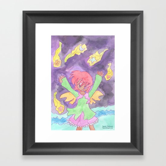 Hug the Stars Framed Art Print