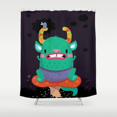 Monster of the night Shower Curtain
