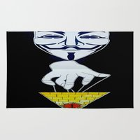 anonymous Area & Throw Rugs featuring Anonymous by Edgar Huaracha