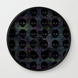 Splat Skullz Wall Clock