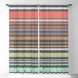 Simple striped pattern, simple, striped, stripes Sheer Curtain