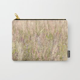 Pink country grass and the wild flowers Carry-All Pouch