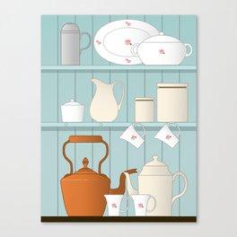 Vintage Kitchen Ilustration Canvas Print