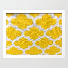 Yellow Cross Pattern Art Print