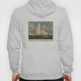 Vintage Boston Yacht - Puritan - Illustration (1885) Hoody