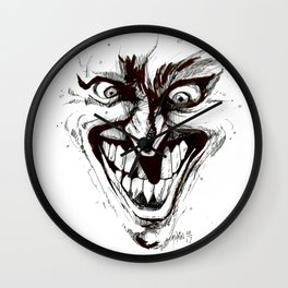 """Turn that Smile Upsidedown"" Wall Clock"