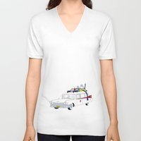 ghostbusters V-neck T-shirts featuring Ghostbusters by Martin Lucas